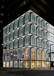 building facade lighting. Facade Of FENDI Flagship Store In Ginza Six Building Lighting T
