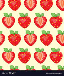 strawberry cartoon wallpaper strawberry background vector by onza image 559577 vectorstock
