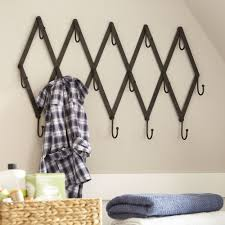 wall rack hooks luxury metal scissor rack