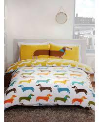 sausage dog king size duvet cover and pillowcase set