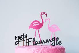 Flamingo Walker Cake Topper