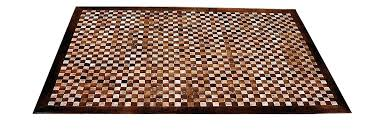 woven leather rug hand