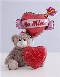 gifts teddy and heart tin