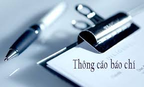 Image result for thong cáo báo chí image