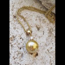 jewelmer 18k golden south sea pearl diamond pendant
