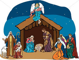 nativity stable clipart. Delighful Nativity Nativity Scene With Angel Overhead Intended Stable Clipart A