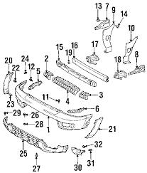 parts com® toyota 4runner radiator support oem parts 2004 toyota 4runner sr5 v6 4 0 liter gas radiator support