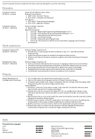 3rd Year Computer Science Major Applying For An Internship