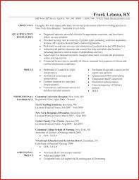 Nurse Resume Examples Sample Without Experience Curriculum Vitae Rn