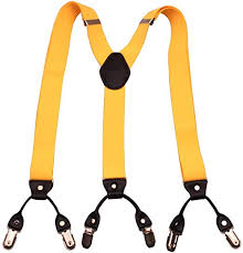 GUCHOL Y <b>6</b> Clip <b>Suspenders</b> for <b>Men</b> - Adjustable Elastic Braces ...