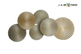 gold and silver wall decoration wooden