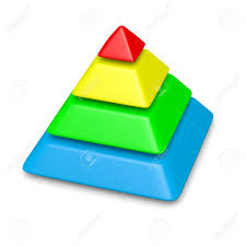 Blank Pyramid Diagram Stock Illustration
