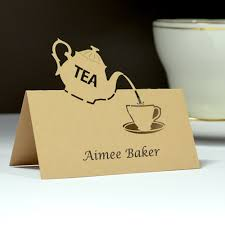 Time For Tea Printed Vintage Tea Party Place Cards Each