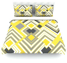 gray and white chevron duvet cover jacqueline milton luca gold cotton duvet cover yellow gray twin