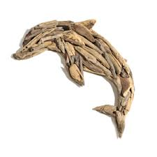 on wooden dolphin wall art with driftwood dolphin wall art