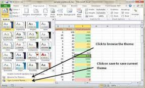 Excel Themes How To Use Themes In Ms Excel 2010 Clarified Com