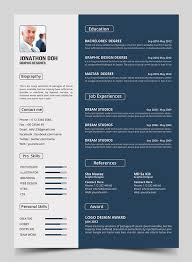 Elegant Resume Templates Gorgeous 48 Free Elegant Modern CV Resume Templates PSD Freebies