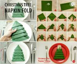 Christmas Tree Napkin Folding Tutorial perfect for your Christmas Table  decorations. Check out lots more