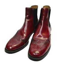 church s ketsbywg polish side gore leather boots burdy size 38 church