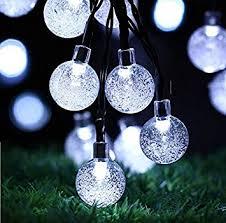 Solar Globe String Lights Outdoor Decorating Inspiration 2018