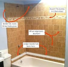 installing ceramic tile on walls in bathroom how to install tile shower basement bathroom tiled wall