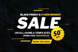 Black Template Joomla Black Friday Cyber Monday Deals 2018 Biggest Deals Of The