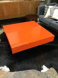 adler coffee table orange lacquer block cocktail table jonathan adler bond coffee table