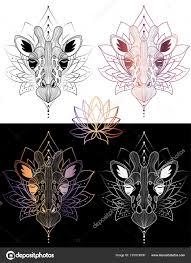 жираф головы графические иллюстрации футболку дизайн и цвет