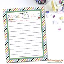 Password Log I Should Be Mopping The Floor Free Printable Password Log