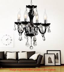 4 light up chandelier with chrome finish
