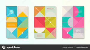 simple covers set of cover design with simple abstract geometric shapes