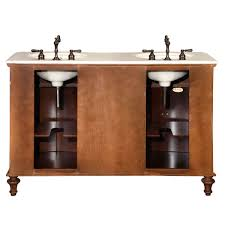 55 inch double sink bathroom vanity: amazoncom silkroad exclusive marble stone top double sink bathroom vanity with cabinet  inch home amp kitchen