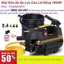 Máy rửa xe áp lực cao máy rửa xe mini máy rửa xe gia đình máy rửa xe giá rẻ  máy rửa xe loại tốt Tặng bình bọt xà phòng