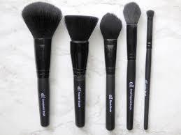 elf small tapered brush vs blush brush. studio brushes.jpg elf small tapered brush vs blush o