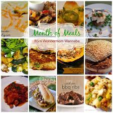 family meals month menu for a month of family meals