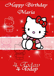 Birthday Cards Design For Kids Personalised Hello Kitty Birthday Card Design 2