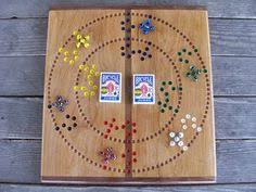 Beautiful Wooden Marble Aggravation Game Board Aggravation game board w marbles and Dice Game boards Marbles 97