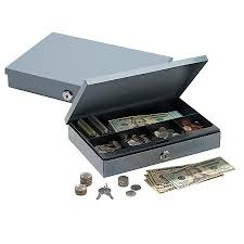 Ultra Slim Cash Box With Security Register Supplies at Office Depot OfficeMax