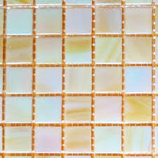 bellaterra home pearly iridescent 12 in x 12 in x 4 mm glass mosaic