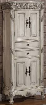 freestanding linen cabinet. 72 Inch Tall Freestanding Linen Cabinet Antique Ivory Finish Item 7629 Traditional Design Makes This Perfect For Hallways Or As Additional Storage In Intended