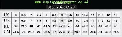 Converse Womens Size Chart Tops4creditcards Co Uk