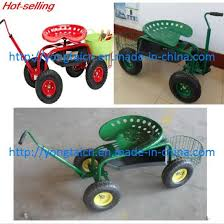 wheeled garden seat tc1852 garden cart garden wagon cart rolling garden work seat cart with basket