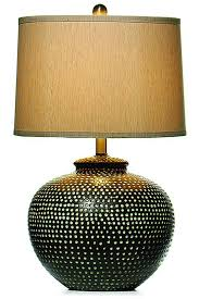 large ceramic table lamps chic 7 hammered pot lamp