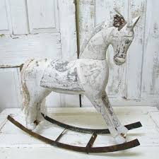 rocking horse decor photo 4 of wooden rocking horse shabby distressed inspired handmade crown monochromatic french