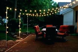 outdoor string light pole formidable stand lighting ideas for your backyard interior design 4