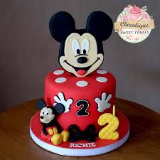 Mickey Mouse Birthday Cake For Richie Chocolique