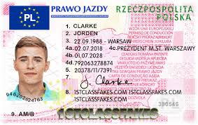 Poland Fake 1stclassfakes Driving Licence