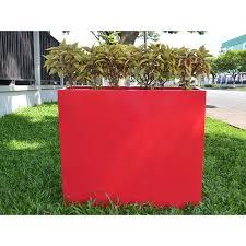 jay scotts amesbury rectangular fiberglass planter