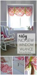 Diy No Sew Curtains The Easiest No Sew Window Valence Ever Window Valences
