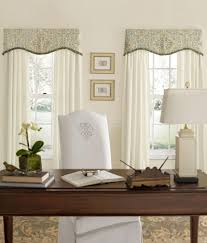 Light Blue Curtains Living Room Antiqued Watercolor Scalloped Valance With Trim Country Curtainsar
